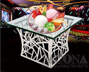 chân đế inox trưng bày buffet SNC520581